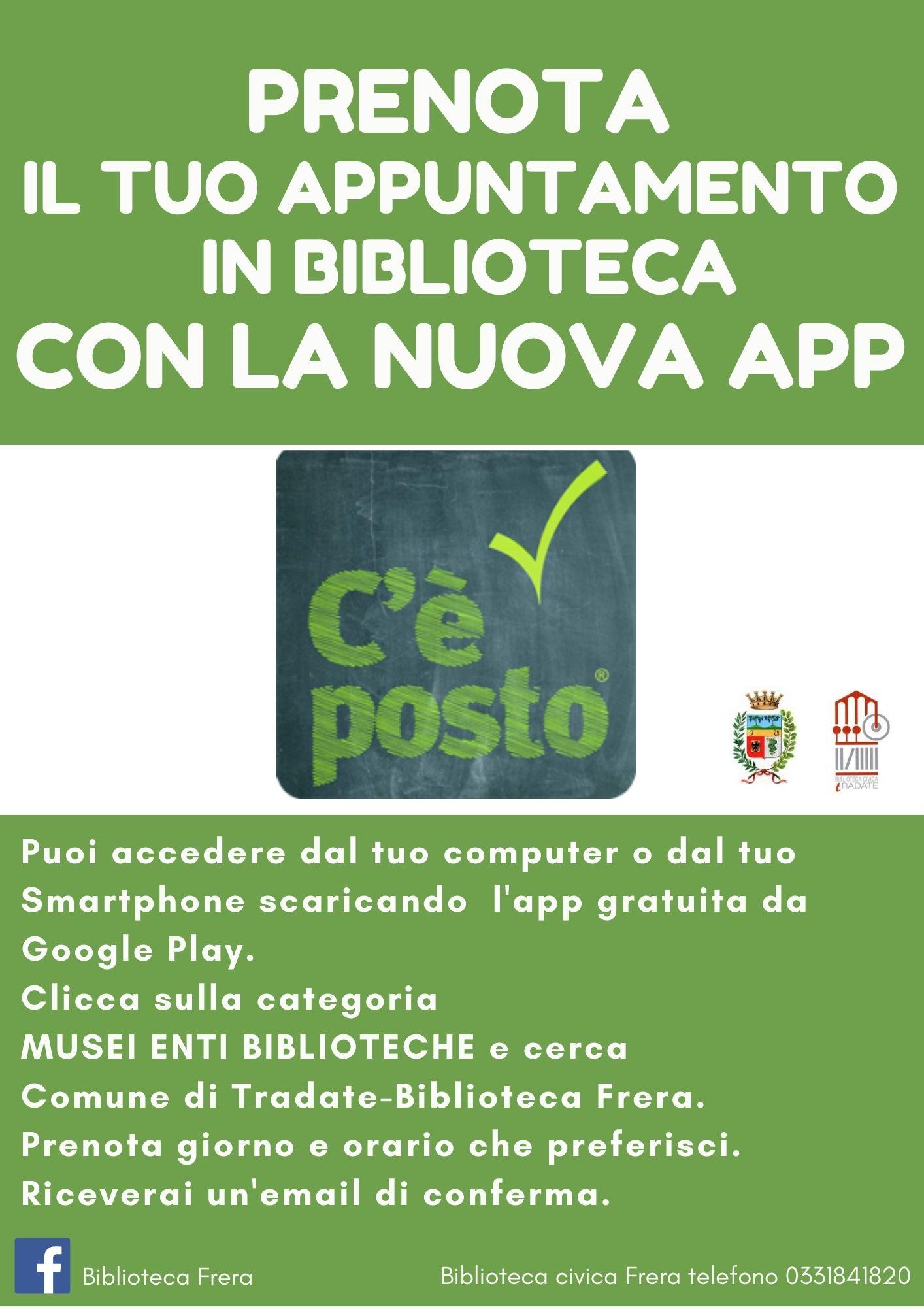 Biblioteca aperta – App C'è posto