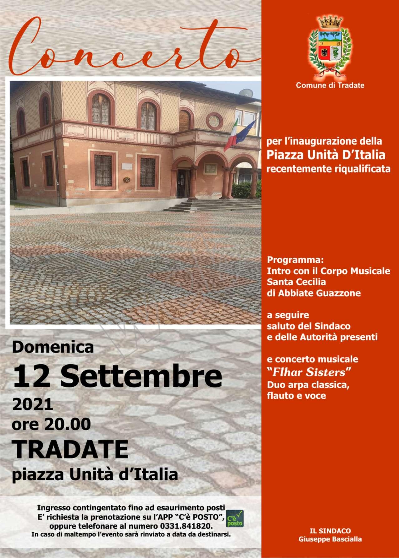 Inaugurazione piazza Unità d'Italia