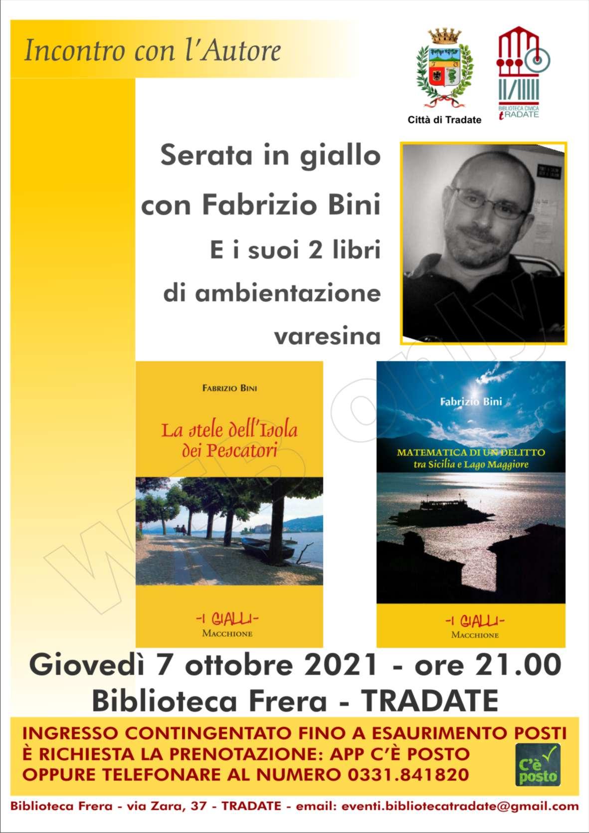 Serata in giallo con Fabrizio Bini